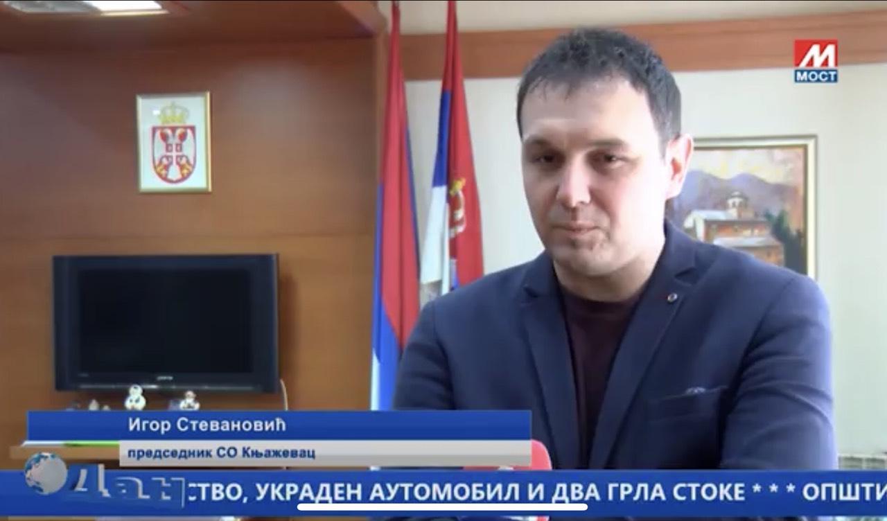 Igor Stevanović, zamenik predsednika SO Knjaževac, foto: TV MOST