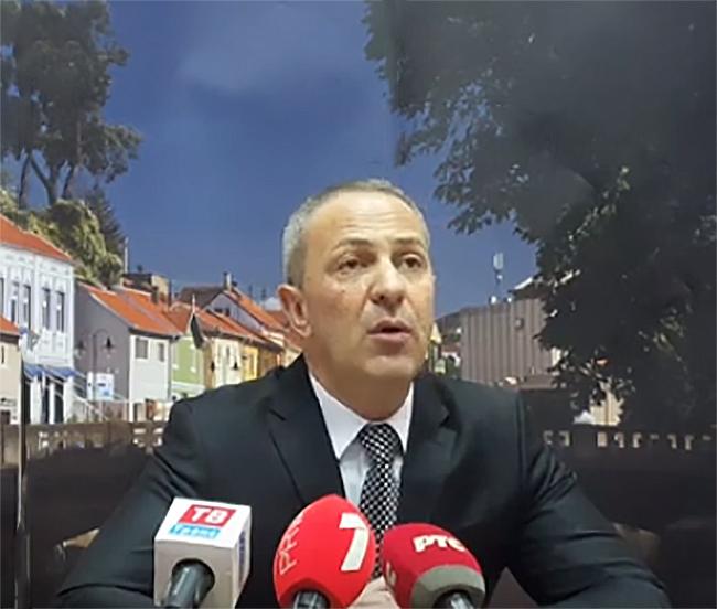 Milan Đokić, konferencija, foto: printskrin, yt kanal Knjazevačke Vesti