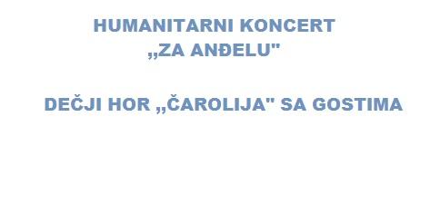 Koncert za pomoć Anđeli Mudrić