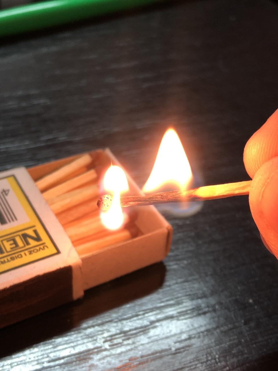 Ilustracija, vatra, šibica, foto: M.M.
