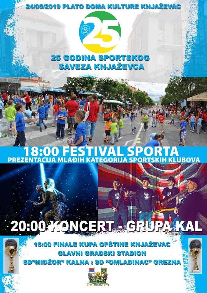 Plakat, Festival sporta, foto: Sportski savez Knjaževac