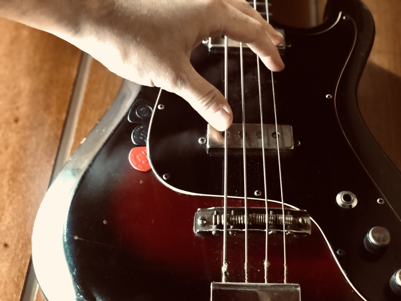 Bas gitara, ilustracija, foto: M.M.