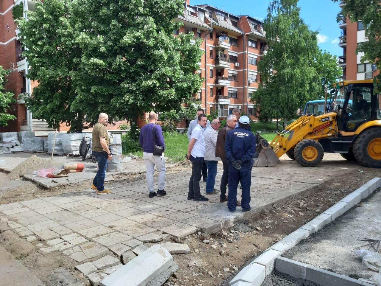 Obilazak radova, naselje Devete brigade, foto: A.S.