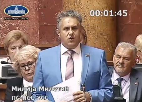 Miletić, PrtScr, Skupština Srbije, Parlament