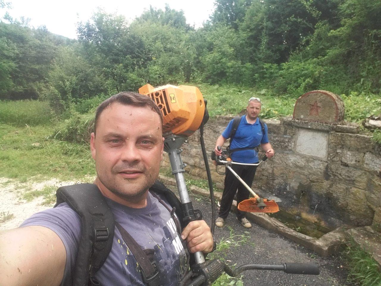 BRAVO: Meštani Belog Potoka ujedinjeni čistili i sređivali selo!