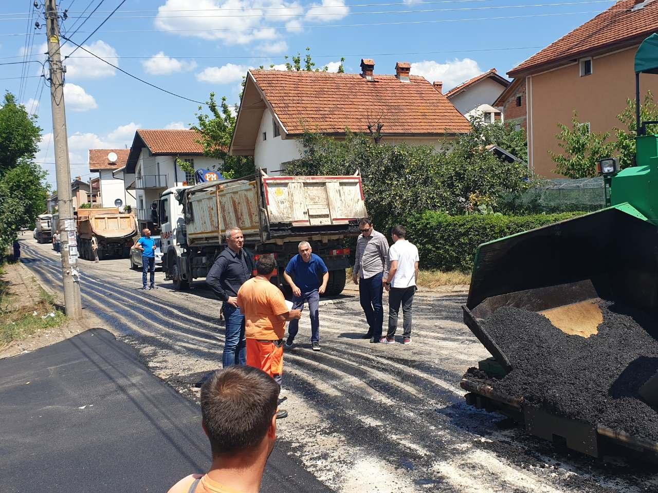 Radovi na asfaltiranju, foto: M.N. Knjaževačke novine
