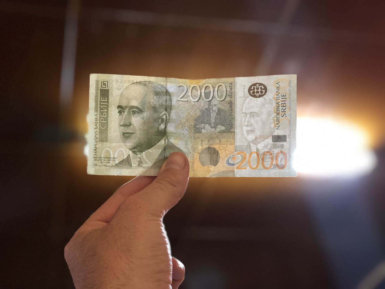 2000 dinara, foto: M. Miladinović