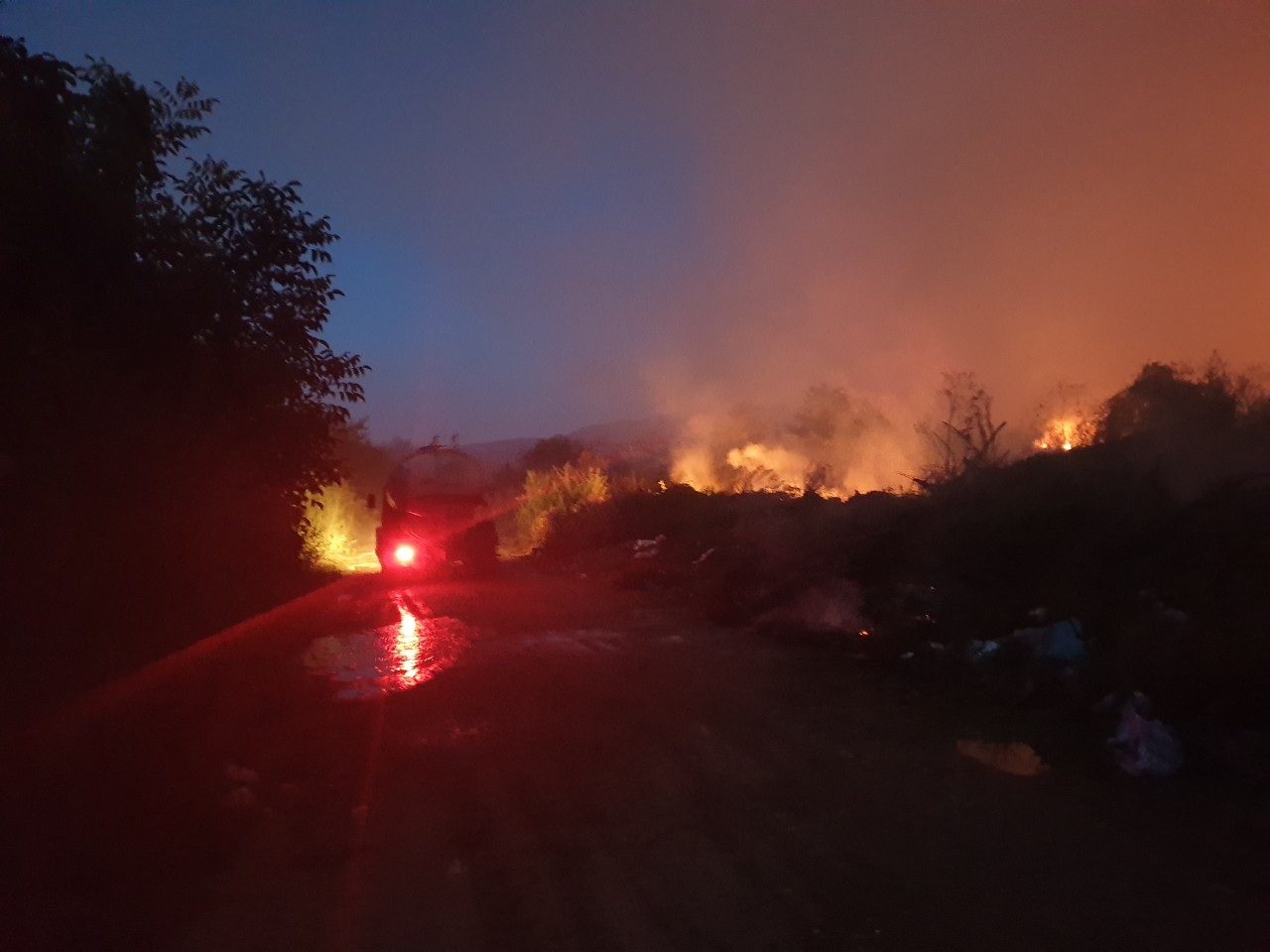 Požar kod deponije, foto: N.M.