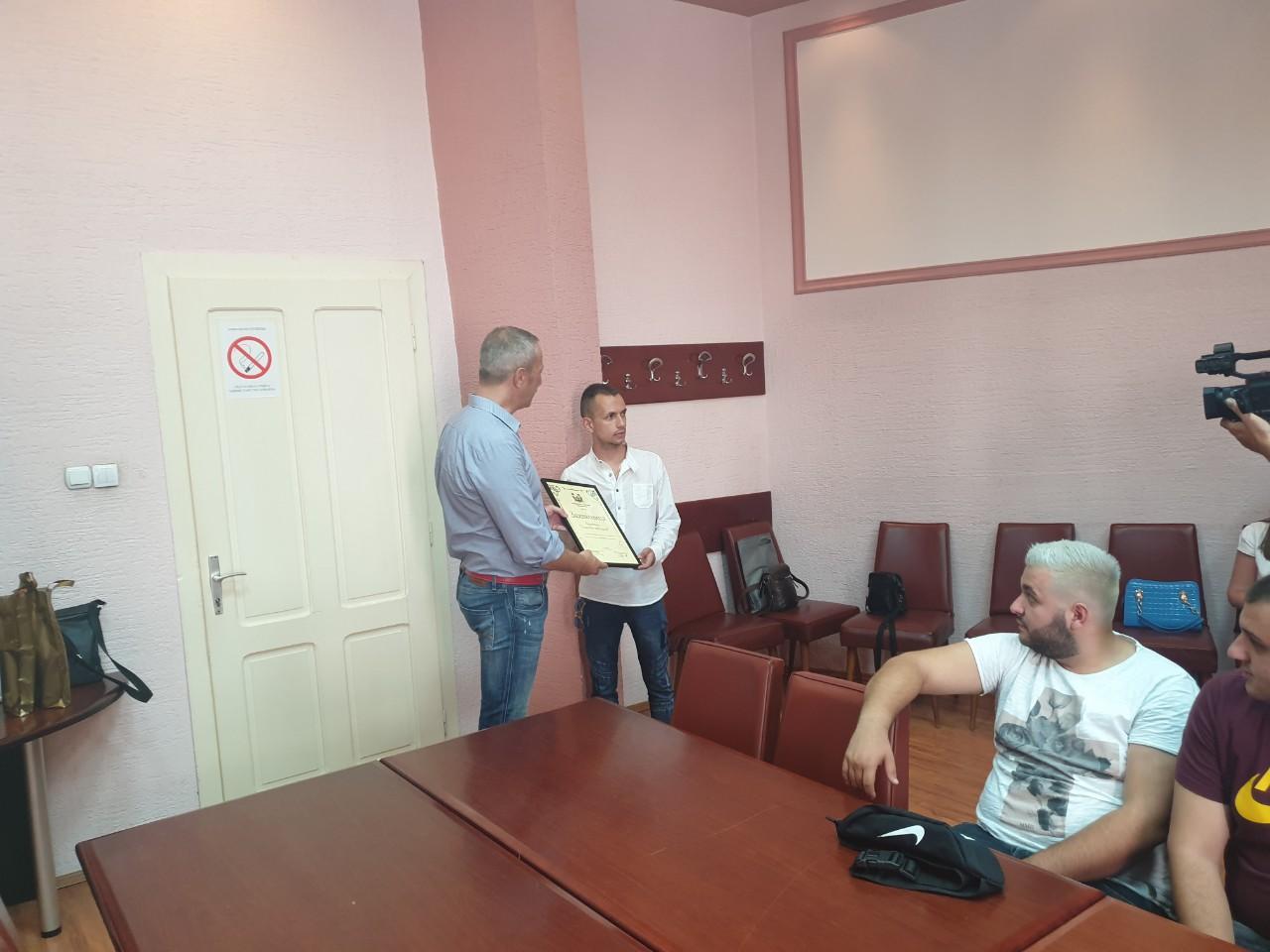 Timočki veseljaci kod predsednika opštine, foto: M.N.