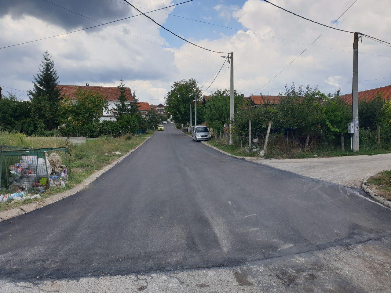 Asfaltirana ulica Slobodana Penezića Krcuna u Lastavičkom polju