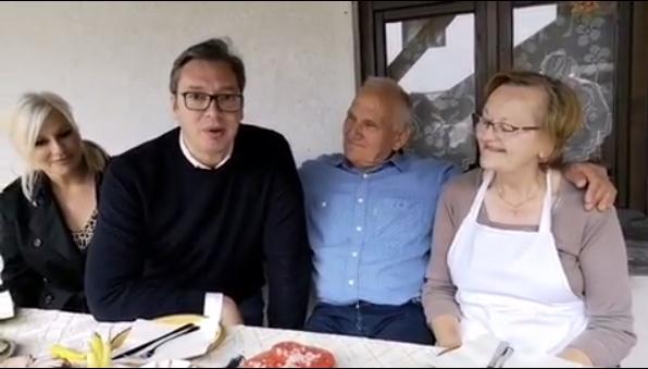 Predsendik Vučić, fotografija preuzeta sa instagram profila: buducnostsrbijeav, PrtScr, video klip