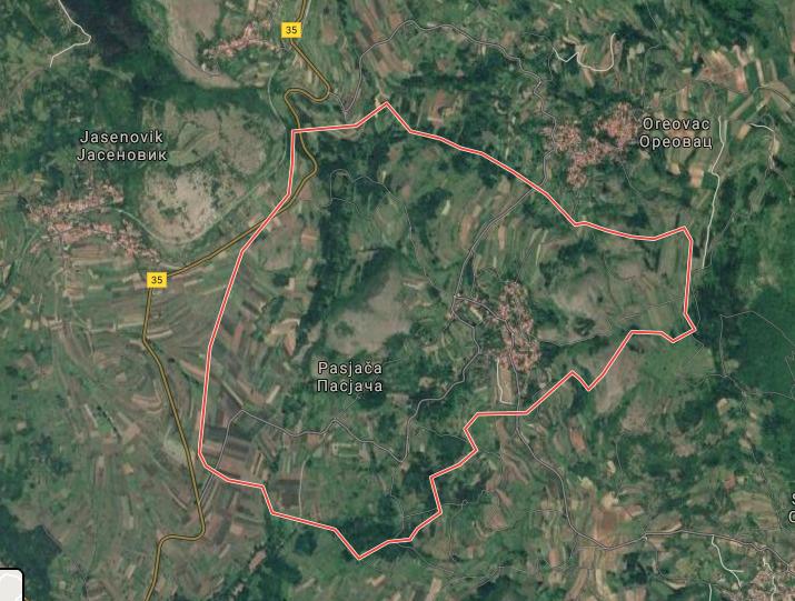 Pasjača, google map, ilustracija, satelit