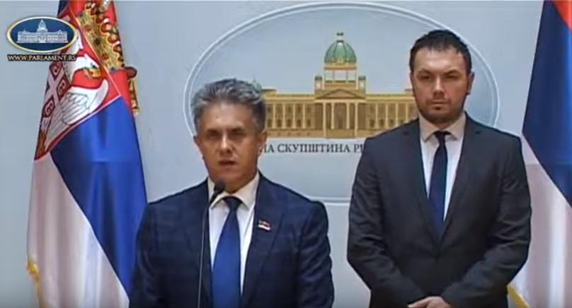 Miletić i Stevanović, foto: Parlament Srbije, PrtScr, Youtube kanal