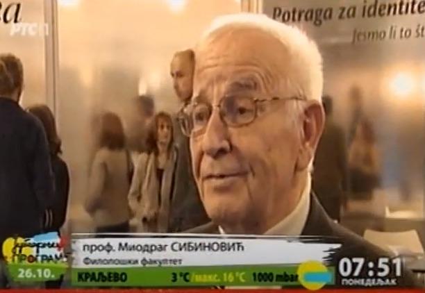 Miodrag Sibinović, izjava za RTS, foto: RTS