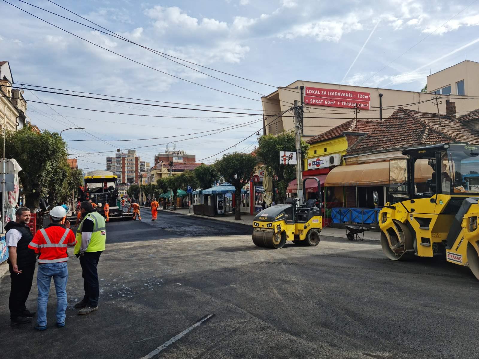Rekonstrukcija ulice Knjaza Miloša, foto: N.M.