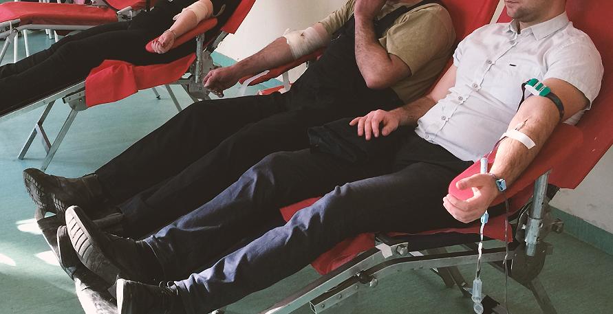 Akcija dobrovoljnog davanja krvi, foto: Knjaževačke novine, arhiva