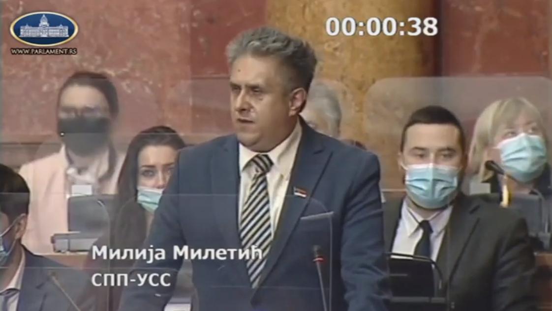 Miletić Milija, foto: Parlament.rs