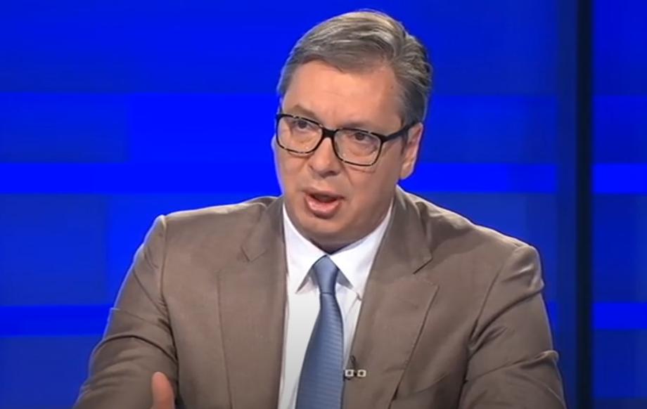 Predsednik Srbije Aleksandar Vučić, foto: RTS, emisija Intervju