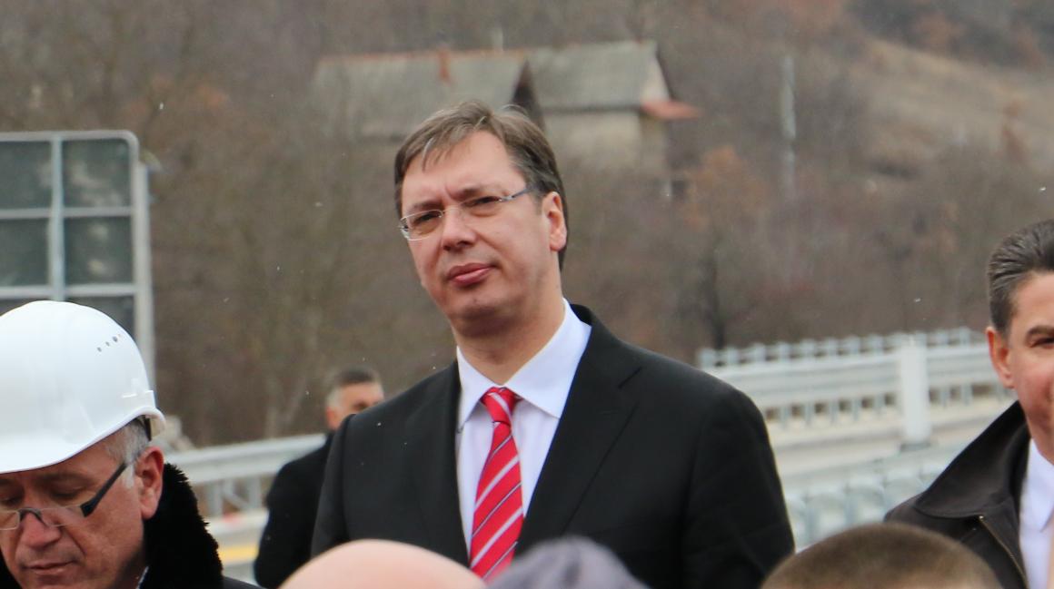 Aleksandar Vučić, foto: Knjaževačke novine, otvaranje puta Crvena reka, arhiva