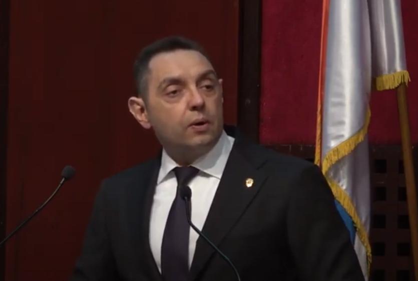Ministar Aleksandar Vulin, foto: MUP, youtube
