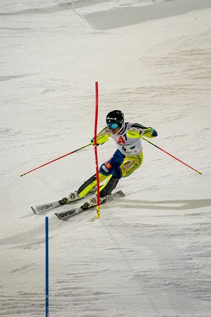 Slalom, ilustracija, foto: pixabay