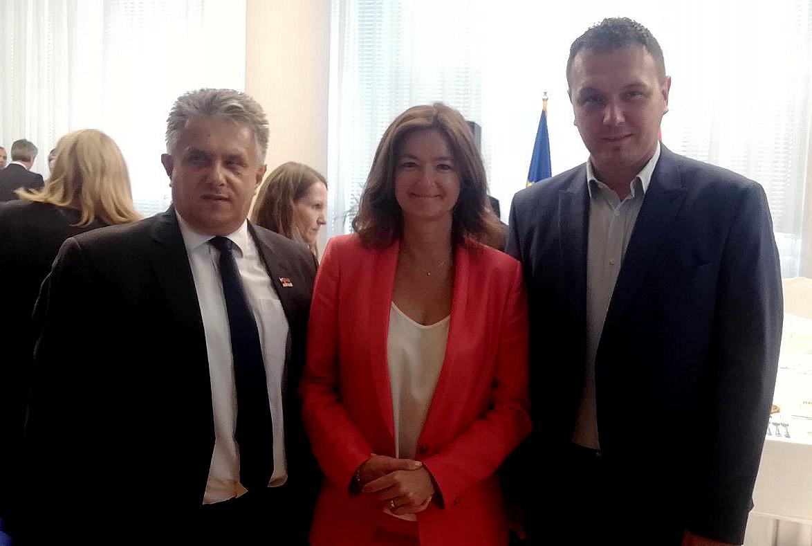 Miletić i Stevanović sa Tanjom Fajon - predsednicom Odbora Evropskog parlamenta za stabilizaciju i pridruživanje Srbije EU